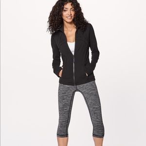 Lululemon Yoga Mock Neck Zip Up Jacket Sz 8